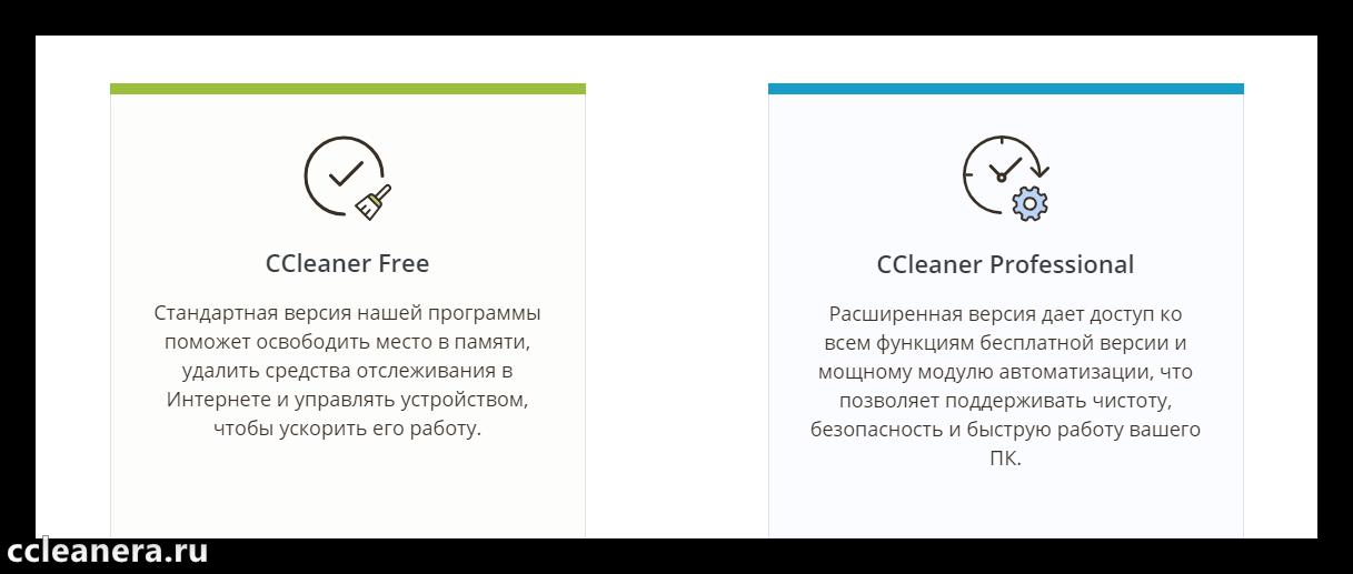 Версии CCleaner